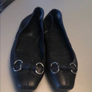 AUTH Gucci Black FLATS SIZE 41 1/2